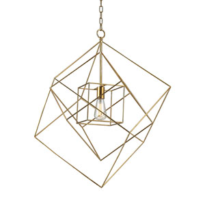 Neil Gold Leaf One-Light 28-Inch Pendant