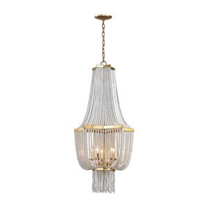 Chaumont Antique Gold Leaf Five-Light Chandelier