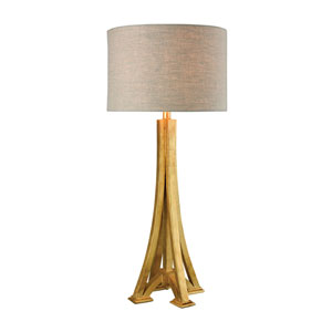 L-Expo Antique Gold Leaf One-Light Table Lamp