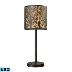 Woodland Sunrise Aged Bronze One Light LED Table Lamp