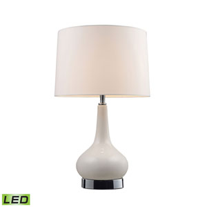 Continuum White Chrome LED Table Lamp