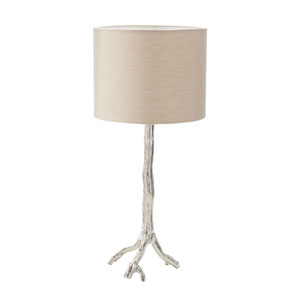Tree Branch Nickel LED Table Lamp