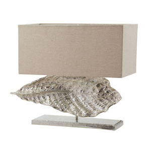 Leaf Nickel Two-Light 22-Inch Table Lamp