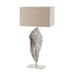 Leaf Nickel Two-Light 18-Inch Table Lamp
