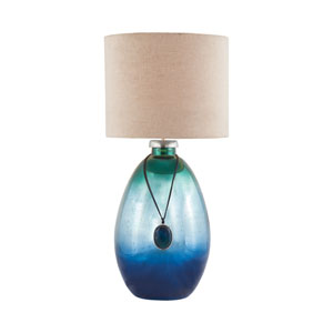 Kingfisher Pacific Blue Mercury One-Light Table Lamp