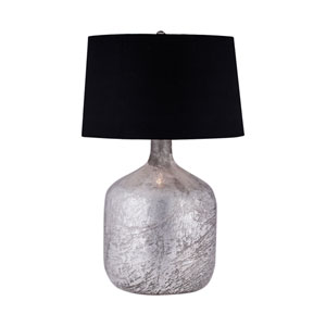 Silvered Antique Mercury Glass LED Table Lamp