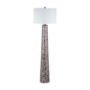 Byzántion Bronze Mosaic One-Light Floor Lamp