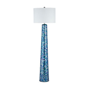 Aphrodisia Turquoise Mosaic One-Light Floor Lamp