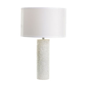 Marble White Marble One-Light 24-Inch Table Lamp
