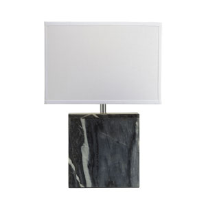 Marble Grey Marble One-Light Table Lamp