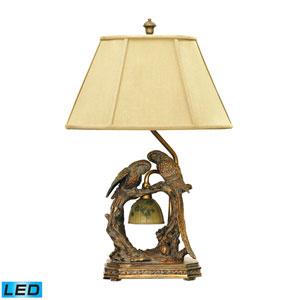 Twin Parrots Atlanta Bronze One Light LED Table Lamp