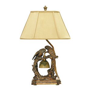 Twin Parrots Atlanta Bronze One Light Table Lamp
