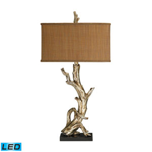 Driftwood Silver Leaf One Light LED Table Lamp