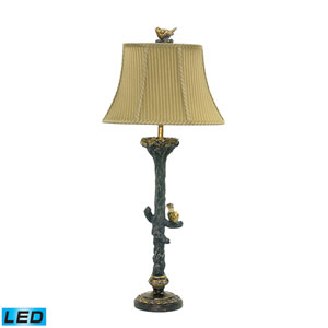 Bird On Branch Metal One Light LED Table Lamp