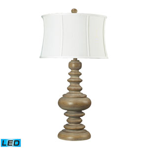 Moniac Bleached Wood One Light LED Table Lamp