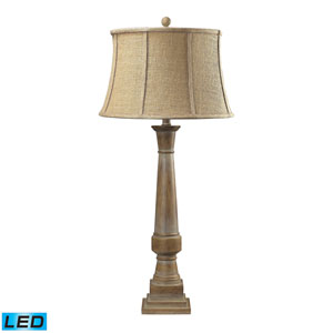 Lyerly Bleached Wood One Light LED Table Lamp