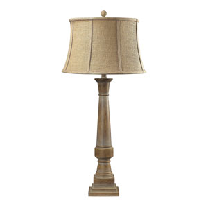 Lyerly Bleached Wood One Light Table Lamp