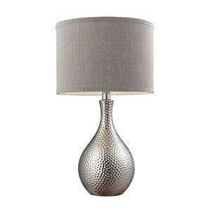Hammered Chrome Plating LED Table Lamp