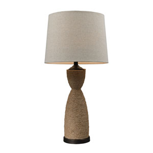 Natural Rope 32-Inch Wrapped Rope Table Lamp