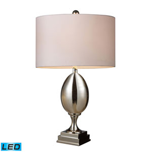 Waverly Chrome Plated Glass One Light LED Table Lamp