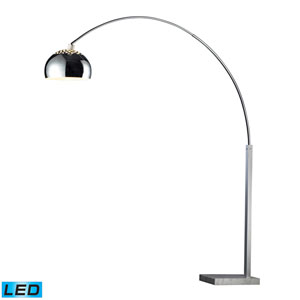 Penbrook Silver Plated and White Marble One Light LED Floor Lamp