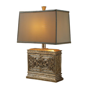 Laurel Run Courtney Gold with Mirror Table Lamp