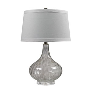 Clear 24-Inch Water Glass Table Lamp