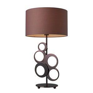 Addison Chocolate Plated Table Lamp