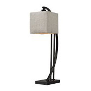 Madison Bronze 26-Inch Arched Metal Table Lamp