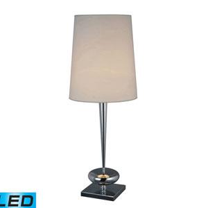 Sayre Chrome One Light LED Table Lamp