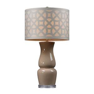 Ballygowan Taupe 27-Inch High Gloss Ceramic Table Lamp