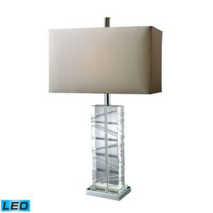 Avalon Chrome and Crystal One Light LED Table Lamp