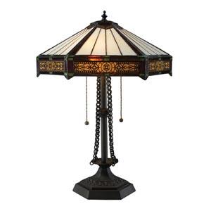 Legacies Filigree Tiffany Bronze Two-Light Table Lamp