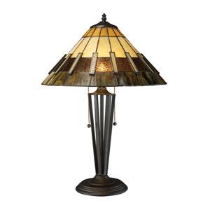 Porterdale Tiffany Bronze LED Table Lamp