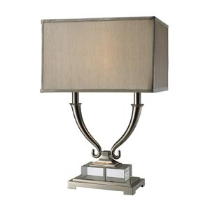 Trendsitions Roberts Polished Nickel Two-Light Table Lamp