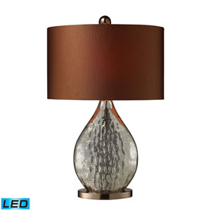 Sovereign Antique Mercury Glass and Coffee Plating One Light LED Table Lamp