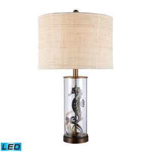 Largo Bronze and Clear Glass One Light LED Table Lamp
