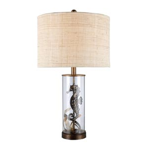 Trendsitions Largo Bronze and Clear Glass One-Light Table Lamp