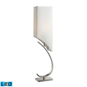 Appleton Polished Nickel One Light LED Table Lamp