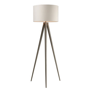 Salford Satin Nickel Floor Lamp