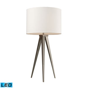 Salford Satin Nickel One Light LED Table Lamp