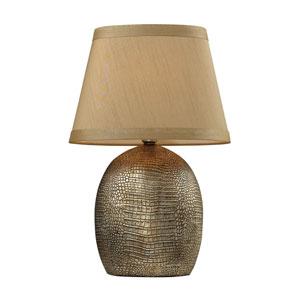 Gilead Bronze Alligator Texture Table Lamp