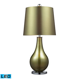 Dayton Sigma Green and Polished Nickel One Light LED Table Lamp