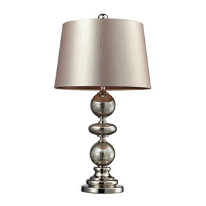 Hollis Antique Mercury Glass & Polished Nickel Table Lamp