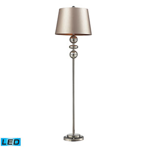Hollis Antique Mercury Glass and Polished Nickel One Light LED Floor Lamp