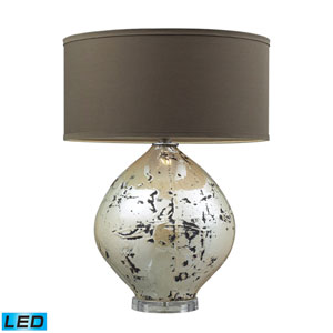 Limerick Turrit Gloss Beige One Light LED Table Lamp