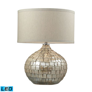 Canaan Cream Pearl One Light LED Table Lamp