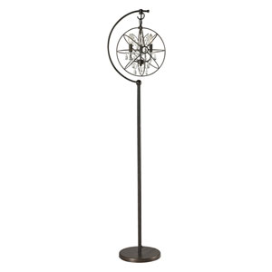 Restoration Globe Oil Rubbed Bronze Three Light Floor Lamp