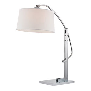 Assissi Polished Nickel One Light Table Lamp