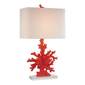 Red Coral 28-Inch One Light Table Lamp